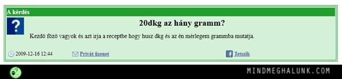 20 dkg hany gramm